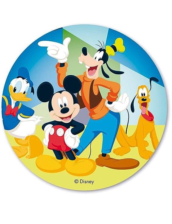 Dekora-114380 Decoracion Tartas de Cumpleaños Infantiles en Disco de Oblea de Mickey Mouse y Sus Amigos-20 cm de Diametro (114380)