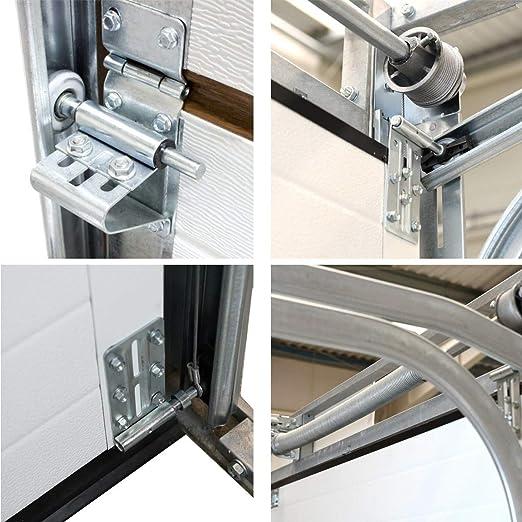 Puerta para garaje, puerta seccional, liso, antracita RAL 7016, tamaño 2500 mm x 2125 mm: Amazon.es: Bricolaje y herramientas