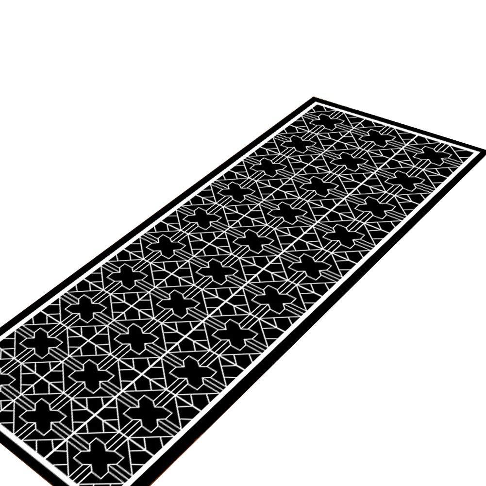 WENZHE キッチンマット 台所 カーペットトレッド パッド ブラック ストリップ 滑り止め 吸収性 ホーム ウォッシャブル 多機能 玄関、 厚さ6mm、 3のスタイル オプション (色 : C, サイズ さいず : 50x80+50x200cm) 50x80+50x200cm C B019MKEZFY
