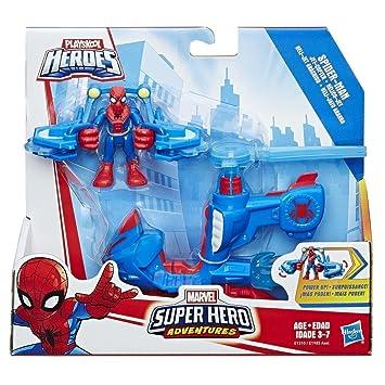 Playskool Heroes Marvel Super Hero Adventures Spider-Man Jet-Copter BRAND NEW!