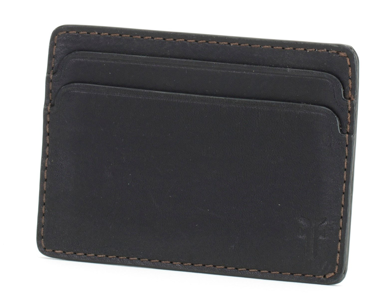 FRYE Men's Oliver Id Card Case, Black, One Size