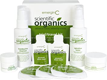 emerginC Scientific Organics - Natural Skin Care Trial/Travel Set (6 items)