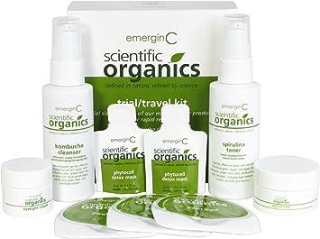 Amazon.com: emerginC Scientific Organics - Natural Skin Care Trial/Travel Set (6 items): Beauty