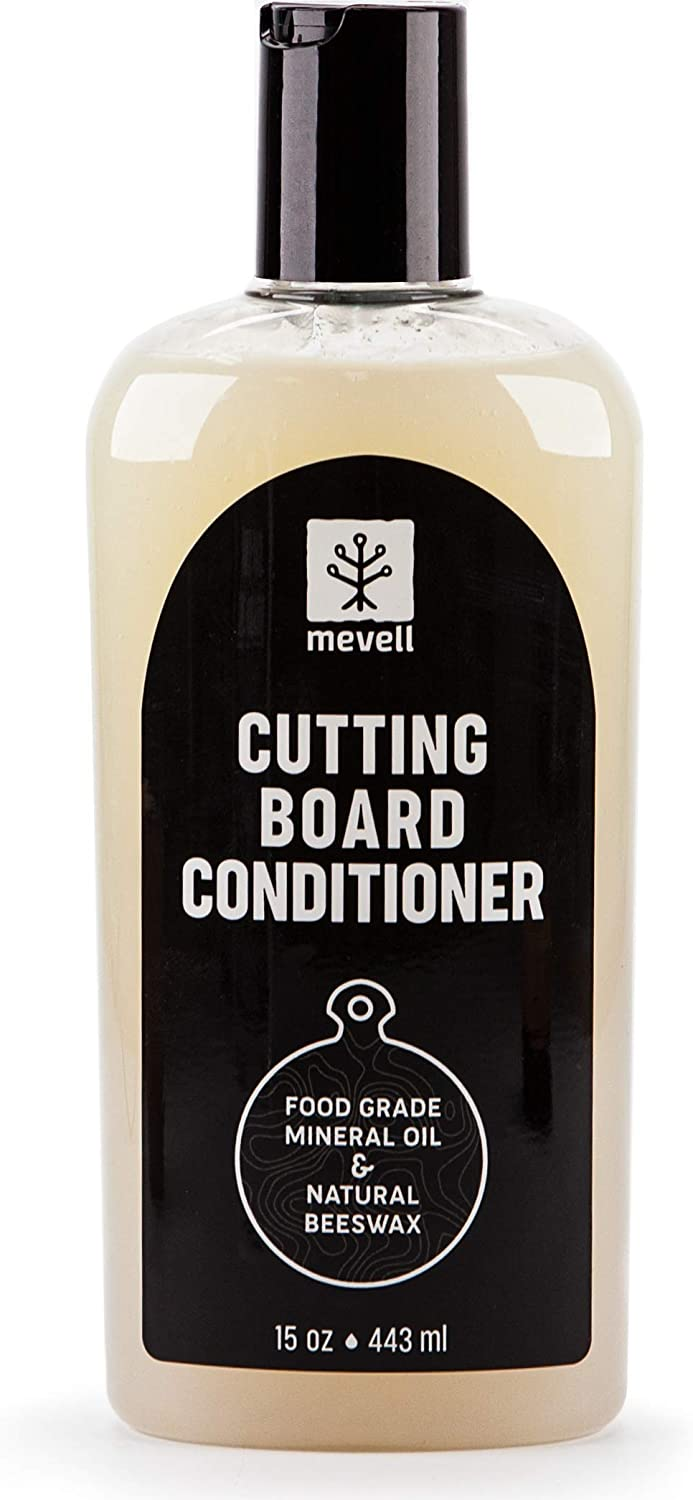 Mevell Cutting Board Conditioner, Great for Butcher Blocks, Countertops and Other Natural Wood Bowls and Utensils, Cutting Board Wax Made with Food Grade Mineral Oil and Natural Beeswax.