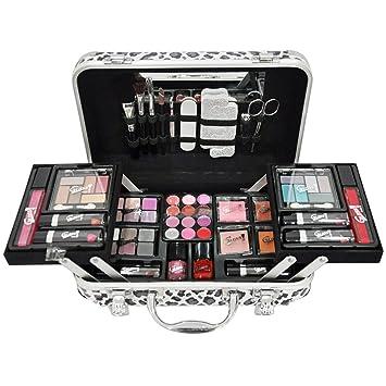 Gloss - caja de maquillaje, caja de regalo para mujeres - Maquillaje Case - Estilo Moderno - 62 piezas
