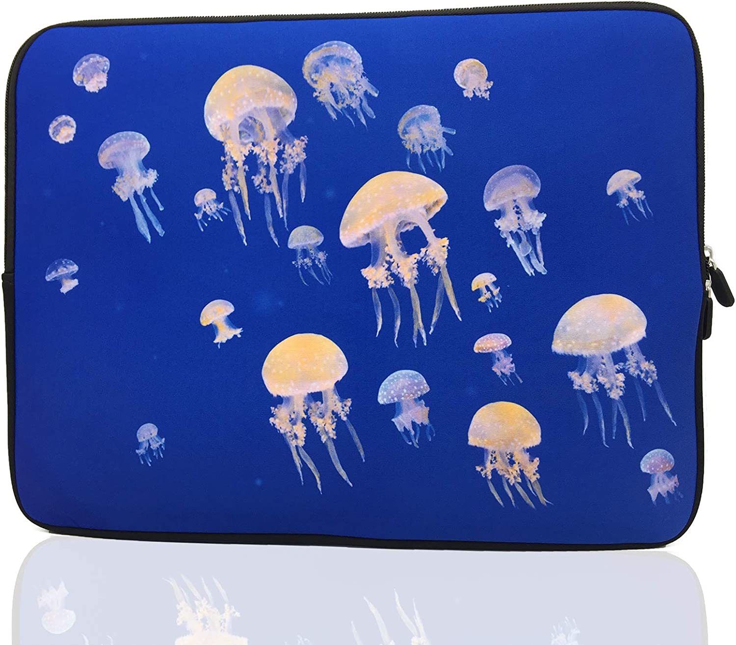 15-Inch to 15.6-Inch Laptop Sleeve Carrying Case Neoprene Sleeve for Acer/Asus/Dell/Lenovo/MacBook Pro/HP/Samsung/Sony/Toshiba (Jellyfish)