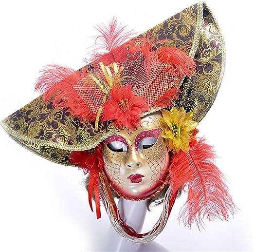 YBBDHD Carnaval Veneciano Máscaras De Disfraces Sombrero De Dibujo ...