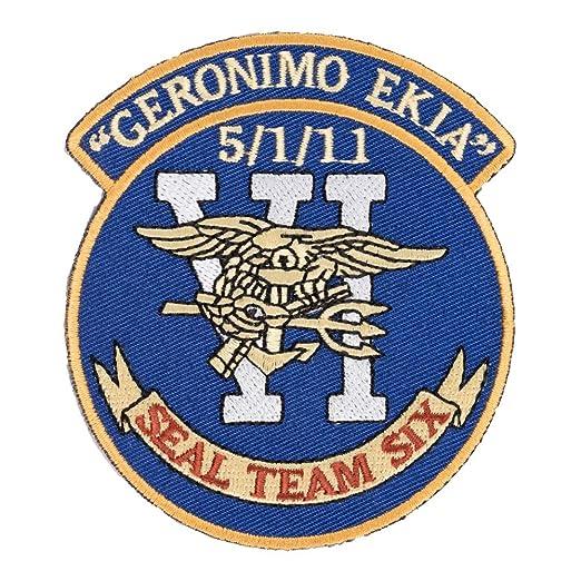 Amazon com: Seal Team 6 Geronimo Ekia Patch, Bin Laden Patches: Clothing