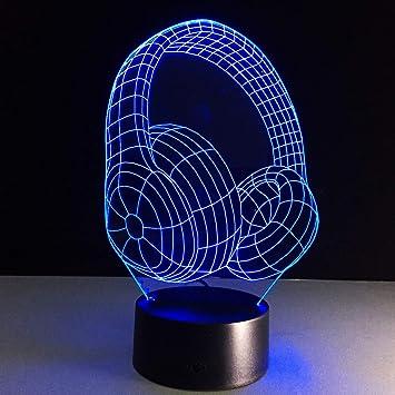 Auriculares acrílicos Calientes con pequeña lámpara de Mesa de luz ...
