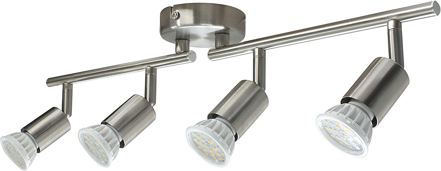 Abishion LED Ceiling Spotlight Bar for Kitchen,Living Room and Bedroom,9  Way LED Ceiling Light Rotatable Include 9XGU9 LED Bulbs,9.9W,9LM 9K  ...