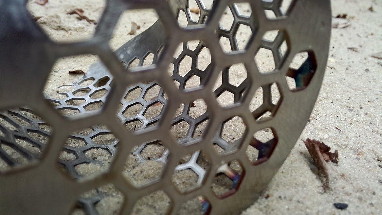 Playa arena pala pequeña Hexagonal -10 coobscout V2 detector de caza de acero inoxidable herramienta: Amazon.es: Jardín