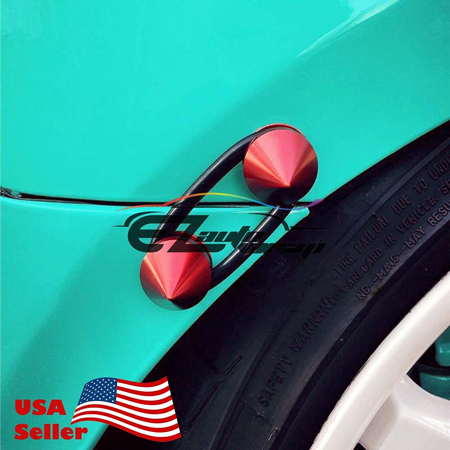 EZAUTOWRAP Orange Spiked Quick Release Fasteners for Car Bumpers Trunk Fender Hatch Lids Kit