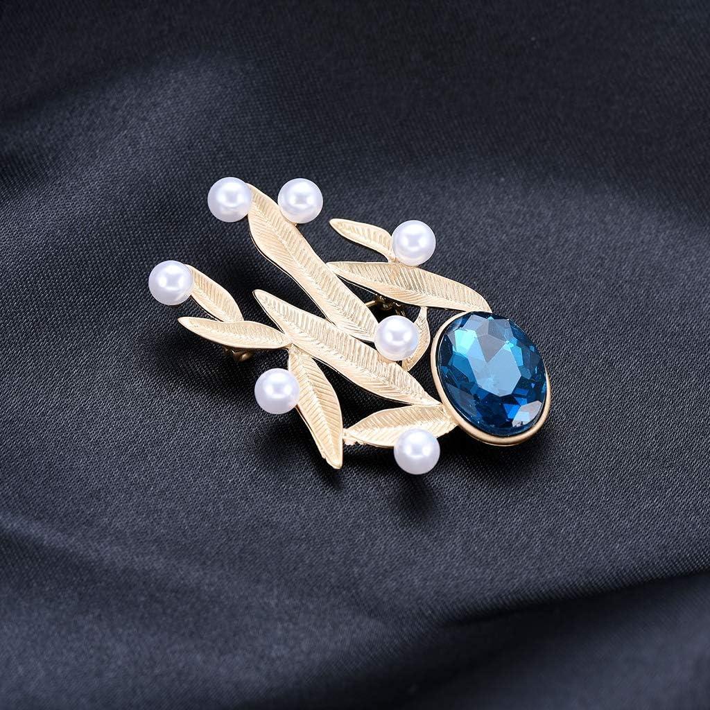 JAGETRADE Perle Broche Feuille De Mode Bijoux Formels Femmes Hommes Cadeaux De Antique Corsage
