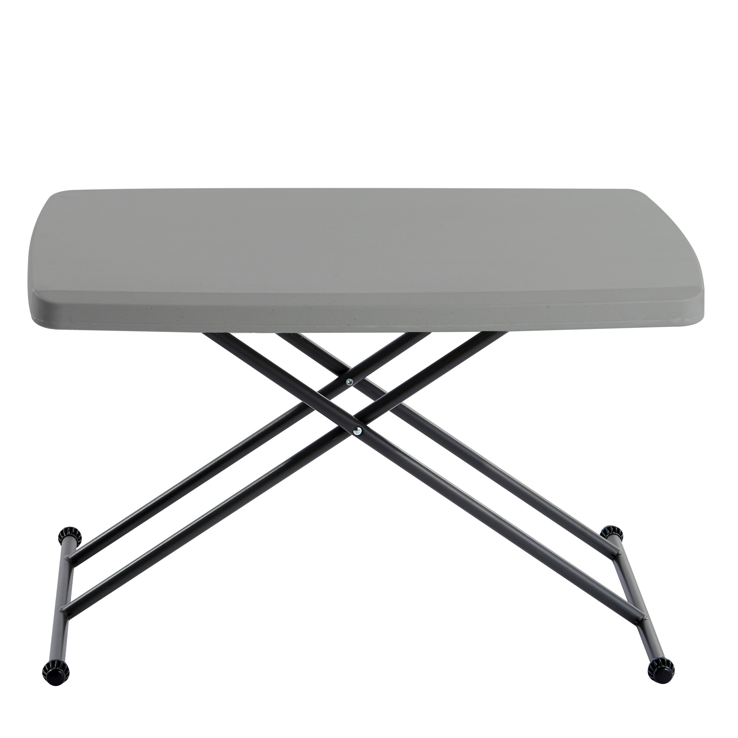 Iceberg 65491 Indestructible Too 1200 Series Resin Personal Folding Table 30 x 20 Charcoal by Iceberg (Image #3)