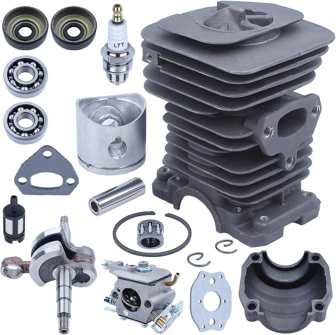 38MM Crankshaft Cylinder Carburetor Kit for Husqvarna 136 141 137 142 Chainsaw