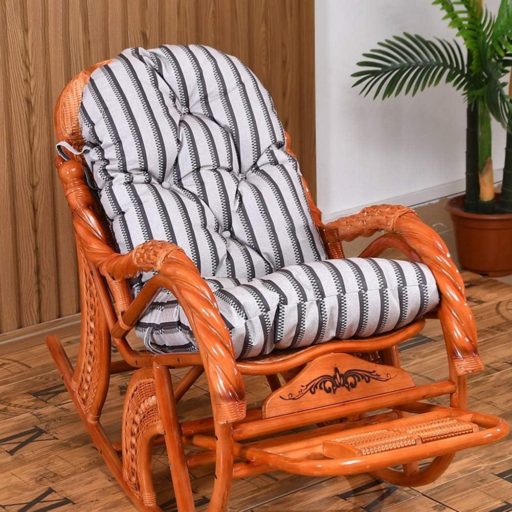 Color : Beige, Size : 50x130cm Automne et Hiver for chaises en Osier Amovible et Lavable Coton Coussin de Dossier Haut Rocking Chair Pliable
