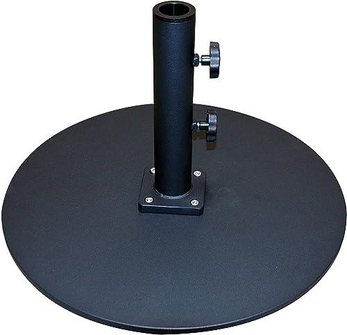 Tropishade 050TSRD Commercial Grade Steel Plate Umbrella Base, Black, 50 lbs