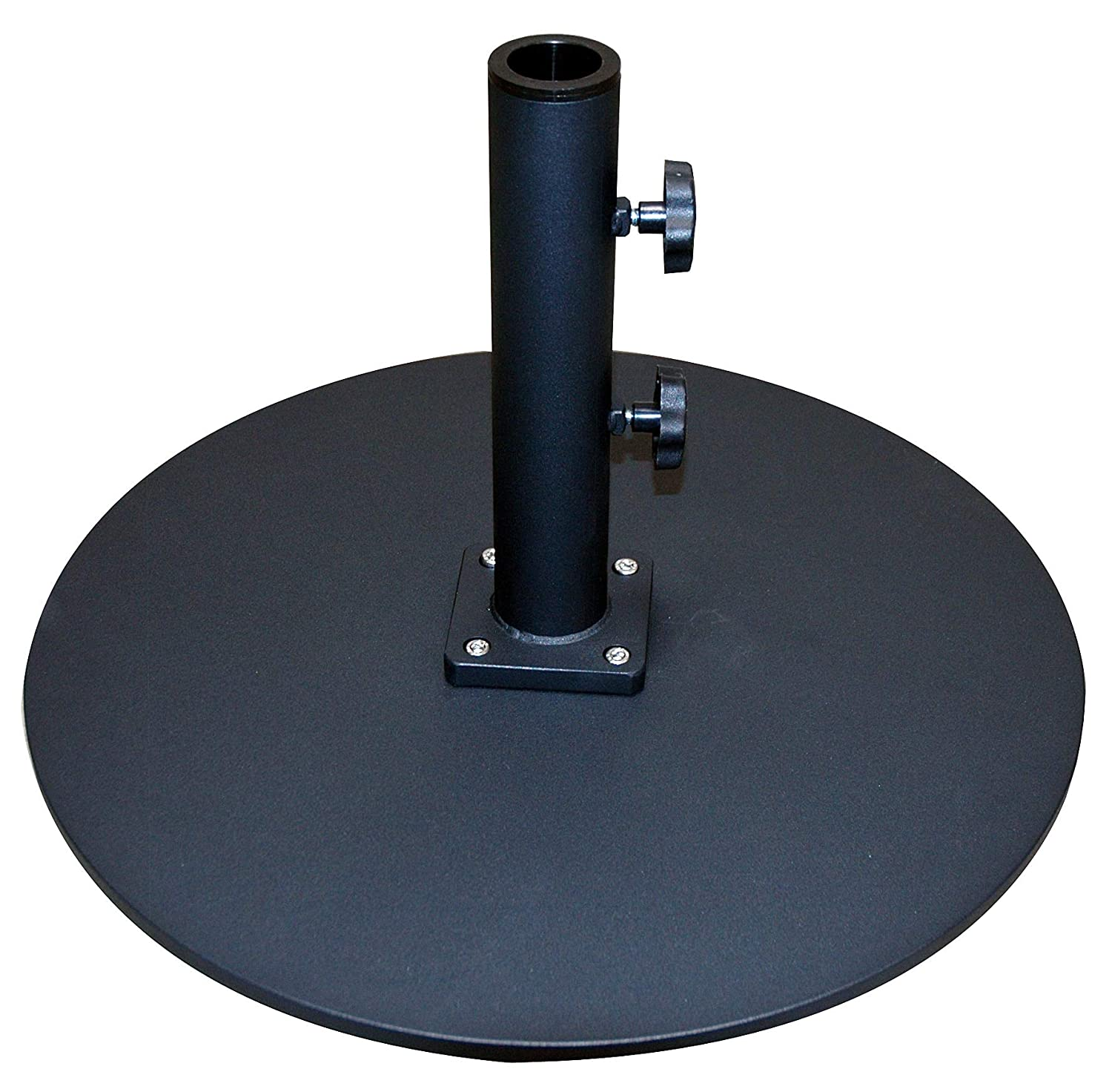 Tropishade Commercial Grade Steel Plate Umbrella Base, Black, 50 lbs