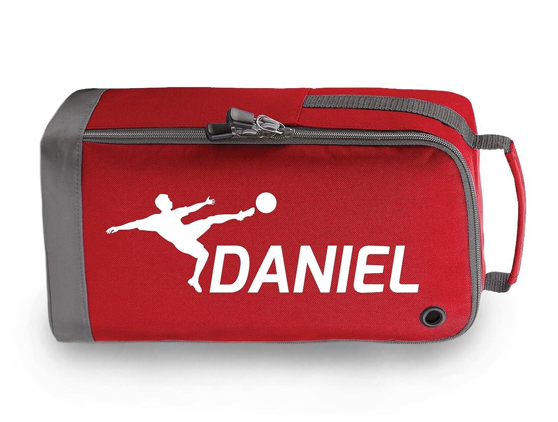 Bolsa para botines de fútbol personalizables para niños, color Red / White Print, tamaño 35 x 19 x 12cm: Amazon.es: Deportes y aire libre