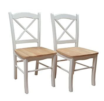 Target Marketing Systems Set Of 2 Tiffany Dining Chairs With Cross Back,  Set Of 2