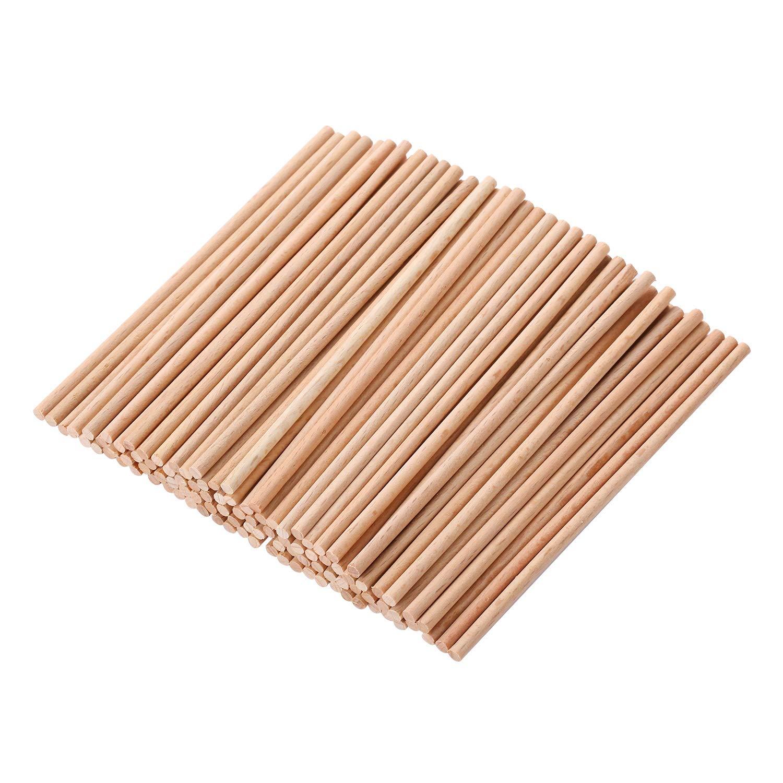 /Ø 6-65 mm 30 x 1000 mm GedoTec/® 10x Varillas redondas haya liso Tarugos de madera Varillas tarugo| Largo 1000 mm Hecho en Alemania
