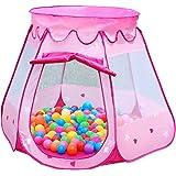 Dazers キッズテント ボールハウス 折りたたみ式 室内遊具 アウトドア おもちゃ (ピンク)