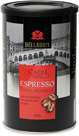 Espresso Coffee 100 Arabica Italian Recipe By Bellarom 200g