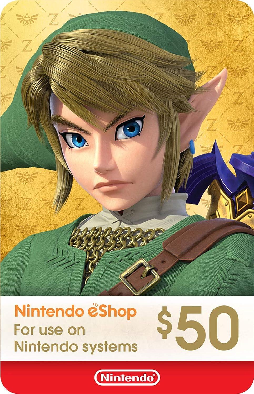Amazon.com: Nintendo America Posa Tarjeta de regalo $50 ...