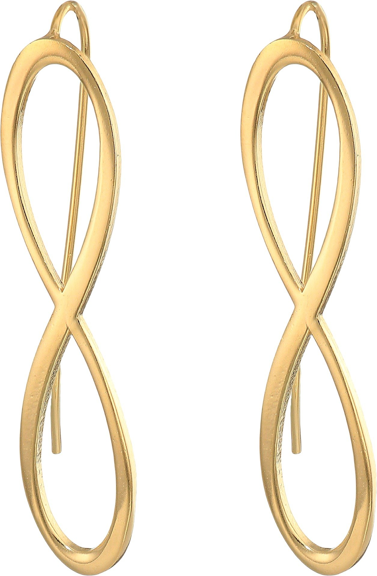 Alex and Ani Women's Infinity Earrings 14kt Gold Plated One Size