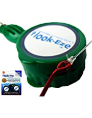 Hook-Eze New Larger Model Reef & Blue Water (Green)- Hook Tying & Safety Device + Line Cutter - Cover Hooks on 2 Fishing Rods & Travel Safely Fully Rigged. Multi Function Fishing Device.