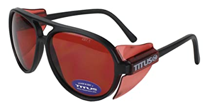 325c70822553 TITUS All-Purpose Safety Glasses (Without Pouch, Round Frame - Vermilion  Lens)