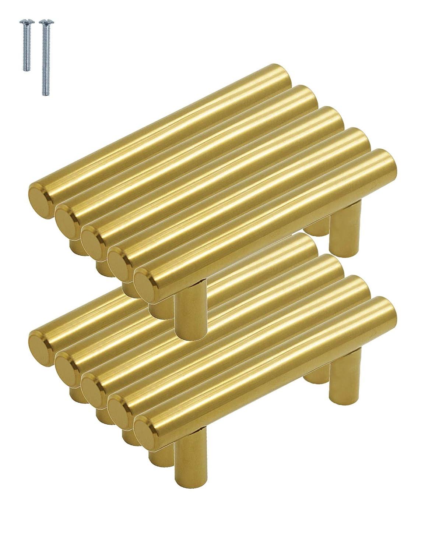 Tirador para puertas de armarios de cocina Hole Centers:76mm Paquete de 10 oro Probrico acero inoxidable 5in 50//64//76//96//128//160//192//224//256 mm