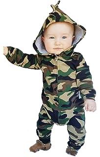65c132fc5f00 Amazon.com  Sameno Infant Baby Boy Girl Clothes Thicker Camouflage ...