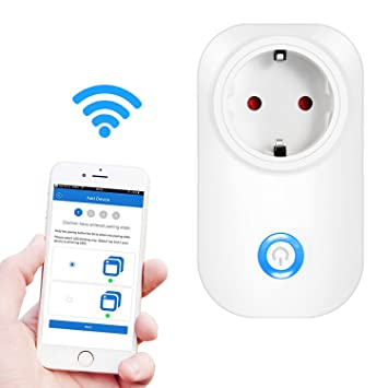 Intelligente Steckdose, Ubegood Smart Steckdose Smart Plug Intelligente  WLAN Steckdose Smart Timing Socket Smart Wireless