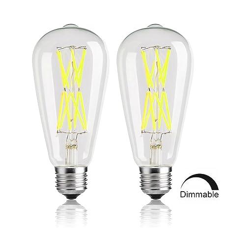 Edison bombillas 100 W, W, intensidad regulable bombillas LED, 6000 K luz blanca