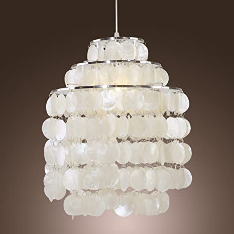 Lightinthebox modern white shell pendant chandelier mini style lightinthebox modern white shell pendant chandelier mini style ceiling light fixture for bedroom living room aloadofball Images