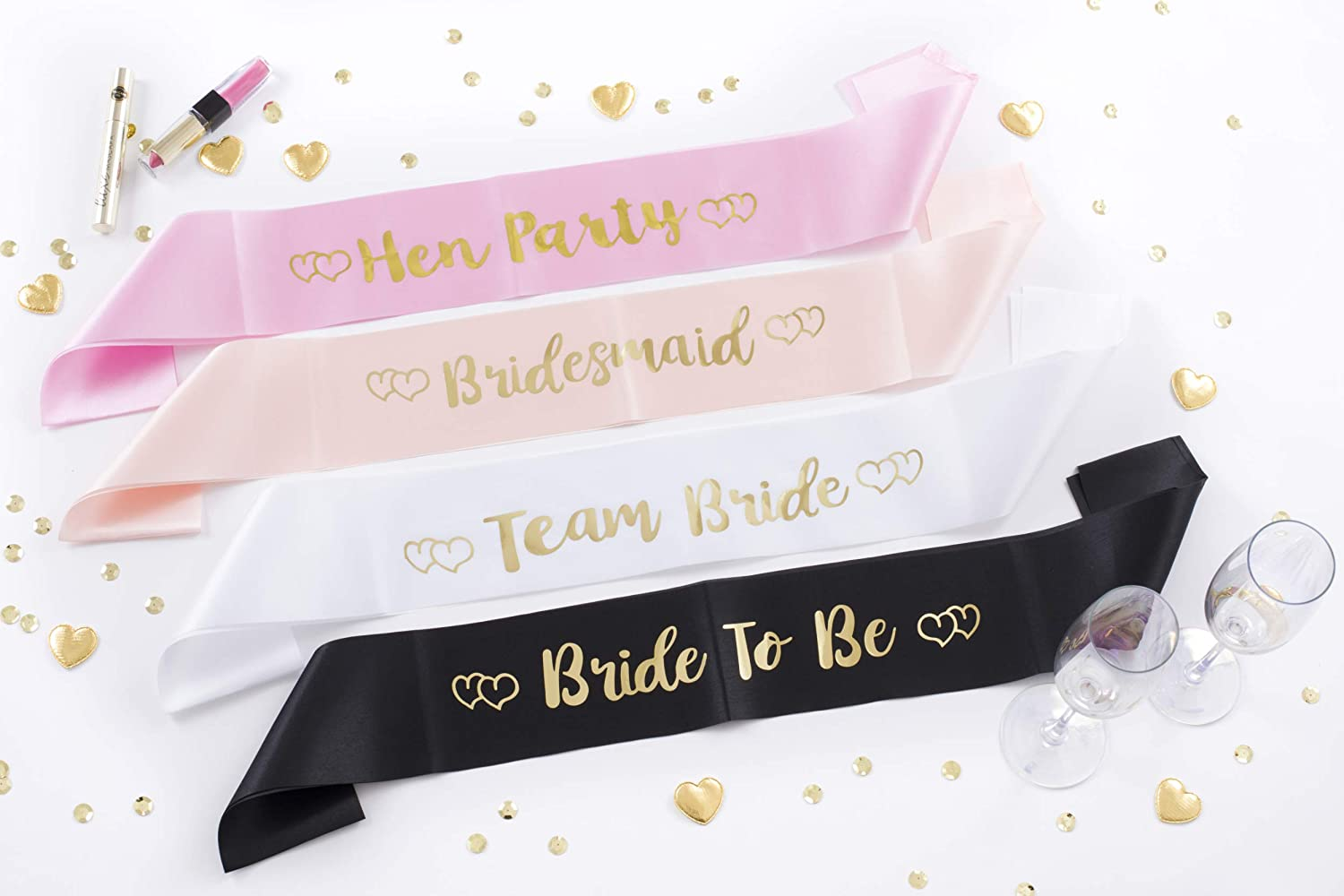 Satin Mother of the Bride Sash Hot Pink Hen Party Night Do Sashes Accessories