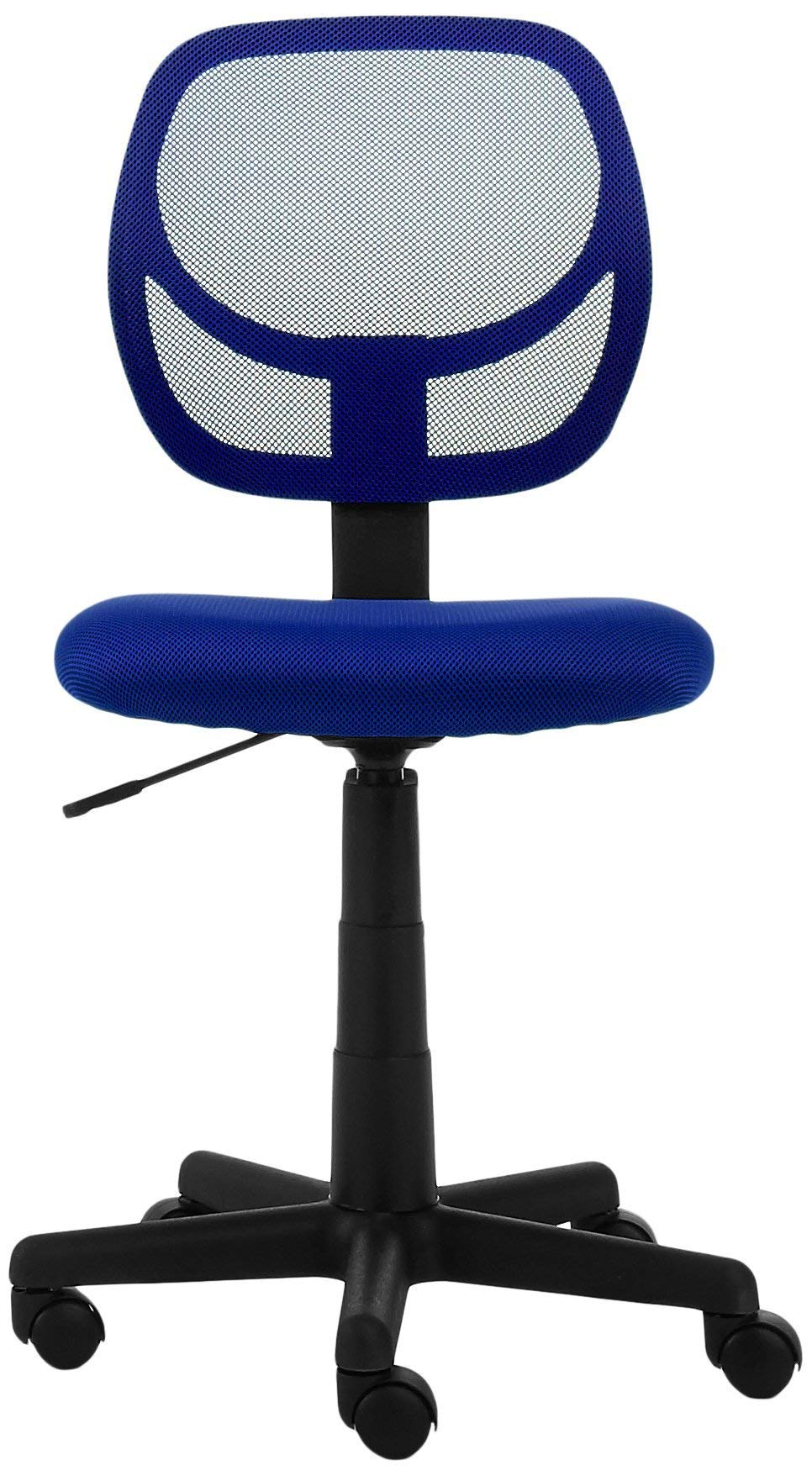 AmazonBasics Low-Back Computer Task Office Desk Chair with Swivel Casters - Blue by AmazonBasics (Image #3)