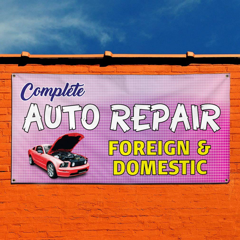 Car Rental Auto Body Shop Car Repair 13 Oz Vinyl Banner Sign With Grommets