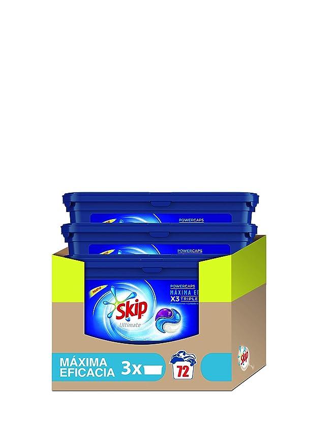 Skip Ultimate Triple Poder Máxima Eficacia Detergente Cápsulas ...
