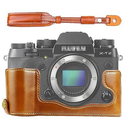 First2savvv marrón Funda Cámara cuero de la PU cámara digital ...