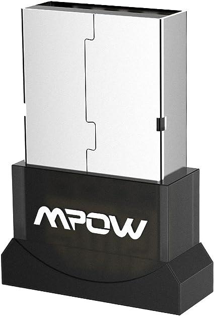 Mpow - Adaptador USB con Bluetooth, Adaptador Bluetooth 4.0, transmisor y Receptor inalámbricos, Adaptador Bluetooth para PC Windows 10, Win/8.1/8/7/Vista/XP: Amazon.es: Informática