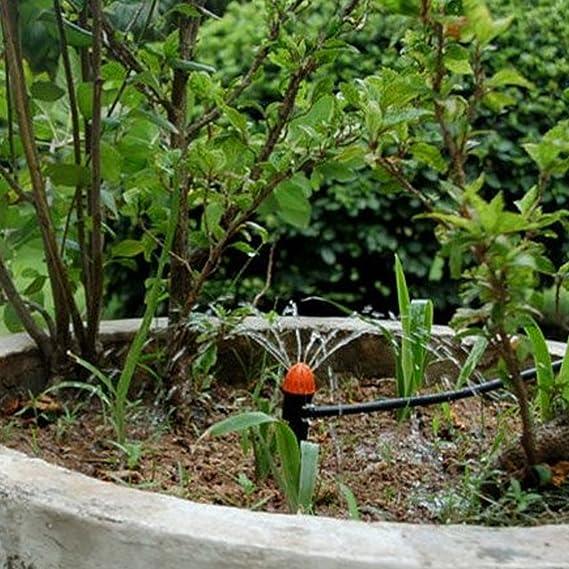 A0127/Piquet Pulv/érisateur Jardin Arroseur Spike Rotatif /à 360/degr/és r/églable dherbe pour pulv/érisateur deau pour Jardin Syst/ème dirrigation Micro Drip T/ête darrosage