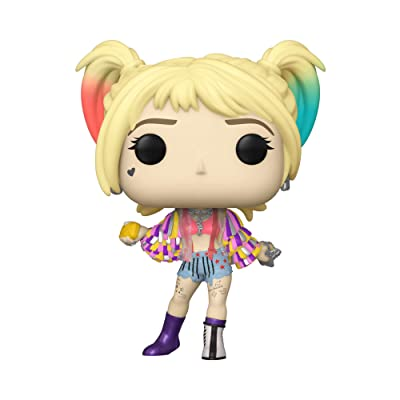 Funko Pop! Heroes: Birds of Prey - Harley Quinn (Caution Tape), Multicolor, 3.75 inches: Toys & Games