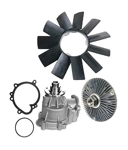 Amazon.com: Water Pump (Metal Impeller) + Fan Clutch + Fan Blade Kit for BMW E46 M3 Premium 11517831907/11527831619/11521712058 (3pcs): Automotive