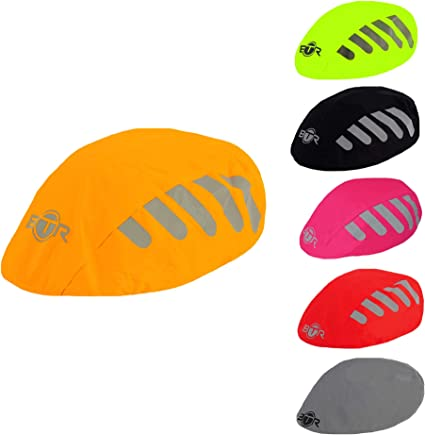 Waterproof High Visibility Reflective Bicycle Helmet Rain Covers Windproof Hat ^