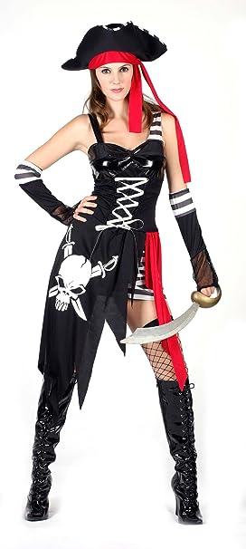 Disfraz de corsaria pirata sexy para mujer: Amazon.es: Juguetes y ...