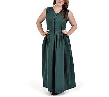 Vestido medieval - Leanda - Verde - S
