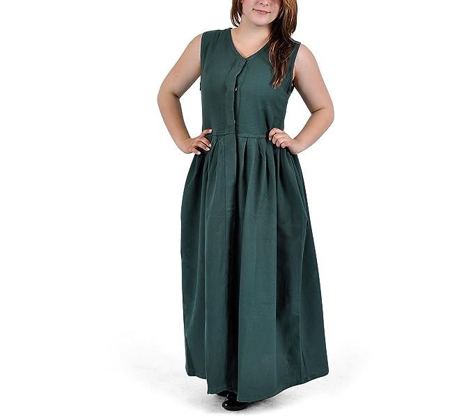 Vestido medieval - Leanda - Verde - XXXL