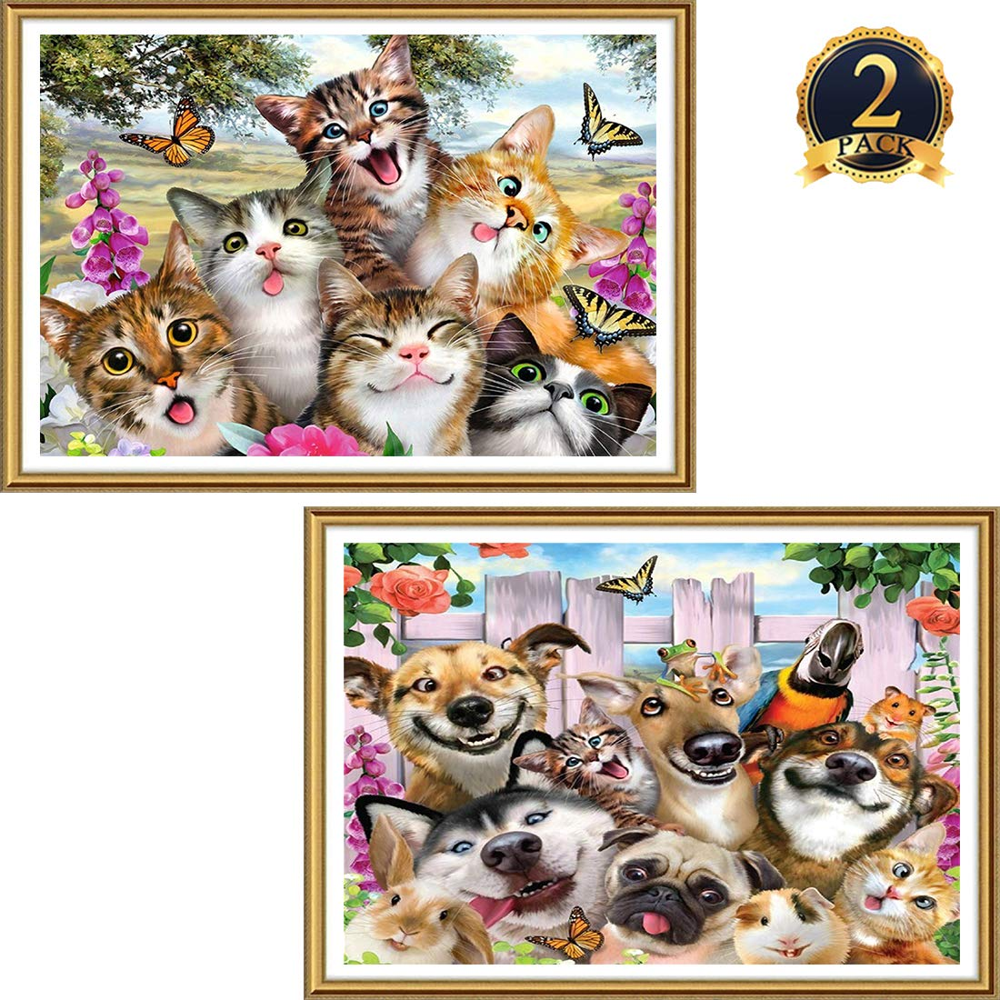 5D Pintura por Diamantes (5140) animales x 2